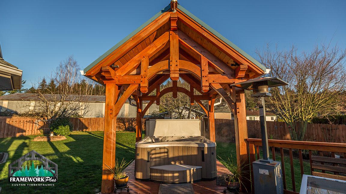 Timber Frame Hot Tub Pavilion In Gresham Or Framework Plus